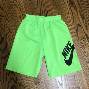 Boys Nike SB neon green shorts size 12-13